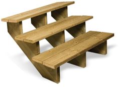 Escalier extérieur bois
