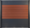 Panneau mix XYLIA Redwood (6 lames) - Aluminium