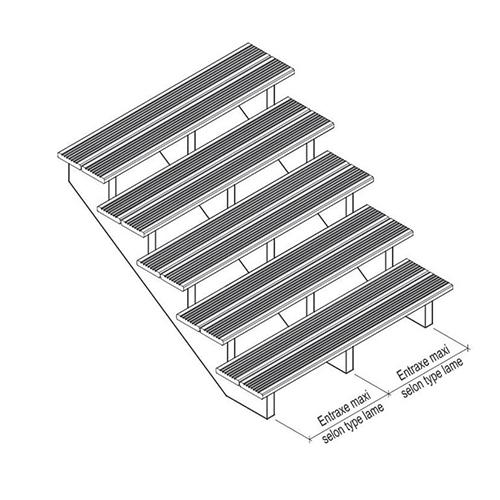 escalier bois autoclave