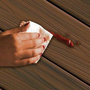 nettoyage sur terrasse composite