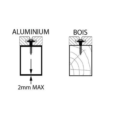 clip lambourde bois et aluminium